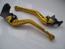 Yamaha MT01 (04-09), CNC levers long gold/black adjusters, R104/C777